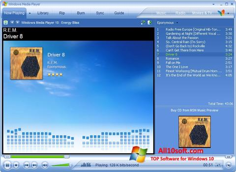 لقطة شاشة Media Player لنظام التشغيل Windows 10