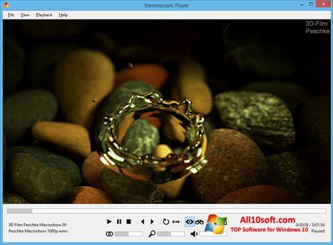 لقطة شاشة Stereoscopic Player لنظام التشغيل Windows 10