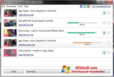 لقطة شاشة Free YouTube Download لنظام التشغيل Windows 10