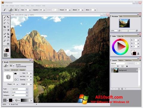 لقطة شاشة Artweaver لنظام التشغيل Windows 10