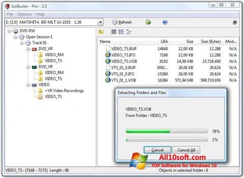 لقطة شاشة IsoBuster لنظام التشغيل Windows 10