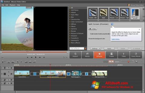لقطة شاشة Movavi Video Editor لنظام التشغيل Windows 10