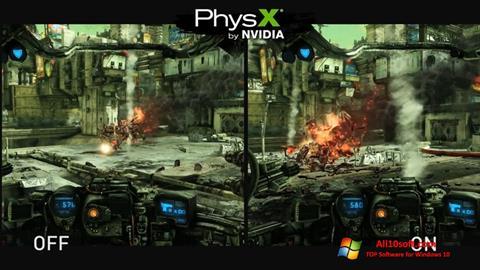 لقطة شاشة NVIDIA PhysX لنظام التشغيل Windows 10
