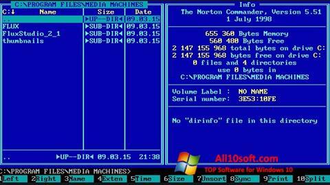لقطة شاشة Norton Commander لنظام التشغيل Windows 10