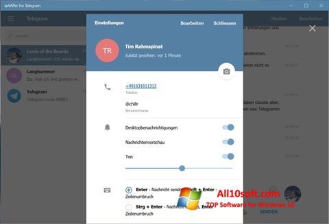 لقطة شاشة Telegram لنظام التشغيل Windows 10