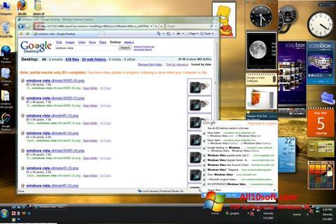 لقطة شاشة Google Desktop لنظام التشغيل Windows 10