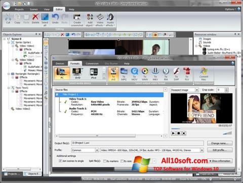 لقطة شاشة Free Video Editor لنظام التشغيل Windows 10