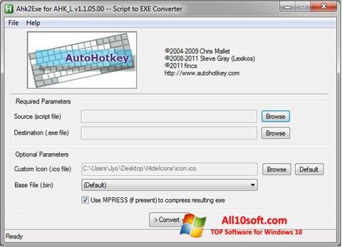 لقطة شاشة AutoHotkey لنظام التشغيل Windows 10