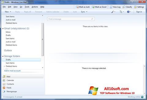 لقطة شاشة Windows Live Mail لنظام التشغيل Windows 10