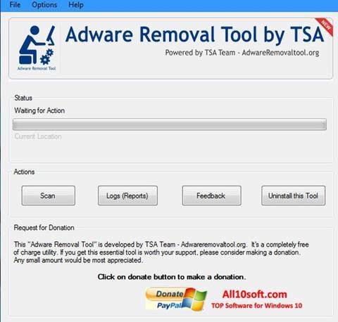 لقطة شاشة Adware Removal Tool لنظام التشغيل Windows 10