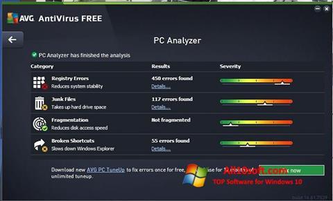 لقطة شاشة AVG AntiVirus Free لنظام التشغيل Windows 10