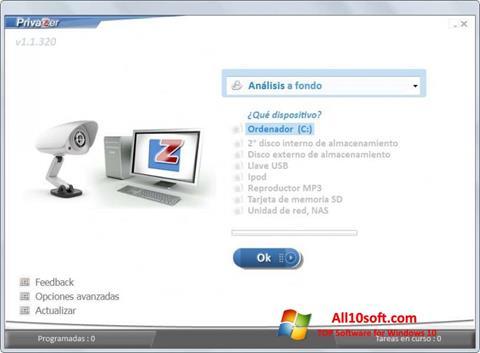 لقطة شاشة PrivaZer لنظام التشغيل Windows 10