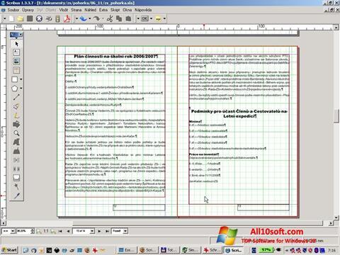 لقطة شاشة Scribus لنظام التشغيل Windows 10
