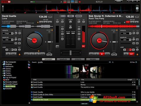 لقطة شاشة Virtual DJ Pro لنظام التشغيل Windows 10