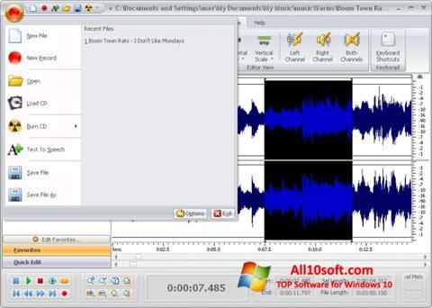 لقطة شاشة Free Audio Editor لنظام التشغيل Windows 10