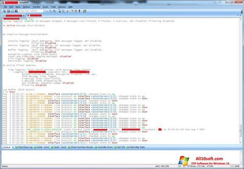 لقطة شاشة SecureCRT لنظام التشغيل Windows 10