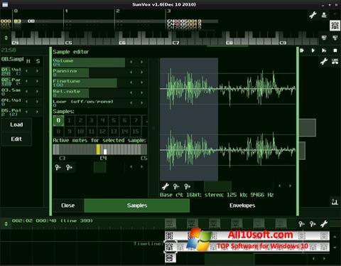 لقطة شاشة SunVox لنظام التشغيل Windows 10