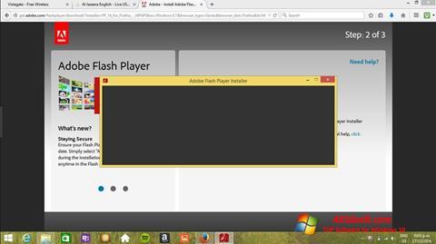 لقطة شاشة Adobe Flash Player لنظام التشغيل Windows 10