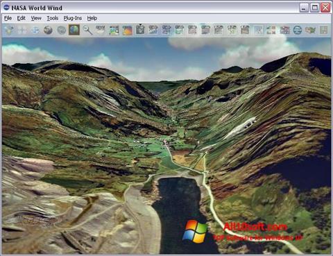 لقطة شاشة NASA World Wind لنظام التشغيل Windows 10