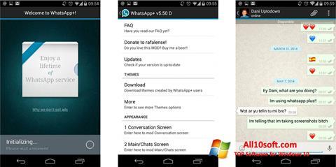 لقطة شاشة WhatsApp Plus لنظام التشغيل Windows 10