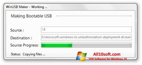 لقطة شاشة WinUSB Maker لنظام التشغيل Windows 10