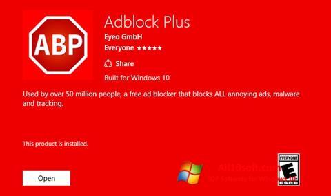 لقطة شاشة Adblock Plus لنظام التشغيل Windows 10