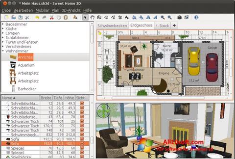 لقطة شاشة Sweet Home 3D لنظام التشغيل Windows 10