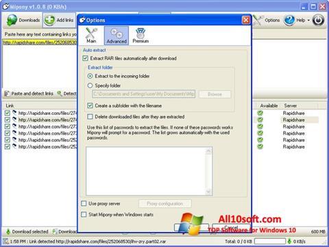 لقطة شاشة Mipony لنظام التشغيل Windows 10