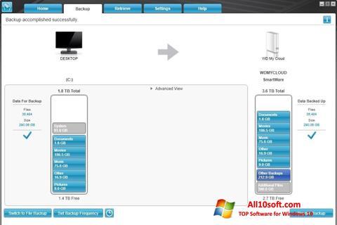 لقطة شاشة WD SmartWare لنظام التشغيل Windows 10