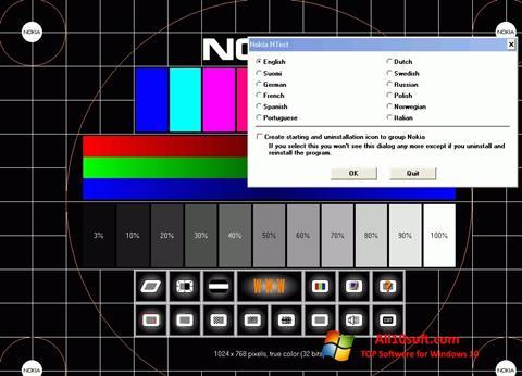 لقطة شاشة Nokia Monitor Test لنظام التشغيل Windows 10