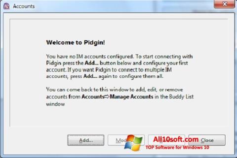 لقطة شاشة Pidgin لنظام التشغيل Windows 10