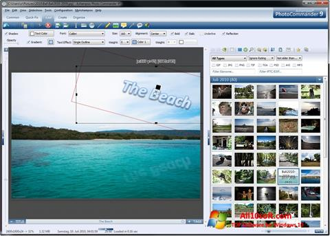 لقطة شاشة Ashampoo Photo Commander لنظام التشغيل Windows 10