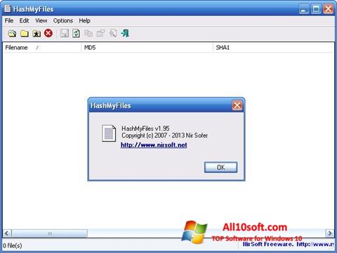 لقطة شاشة HashMyFiles لنظام التشغيل Windows 10
