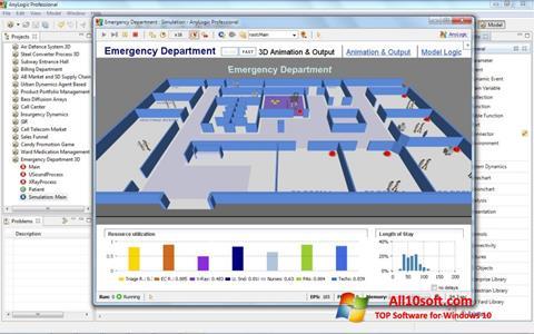 لقطة شاشة AnyLogic لنظام التشغيل Windows 10