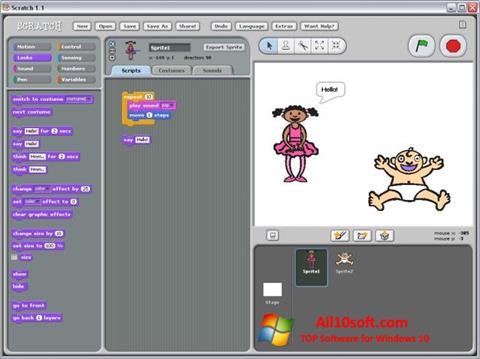 لقطة شاشة Scratch لنظام التشغيل Windows 10