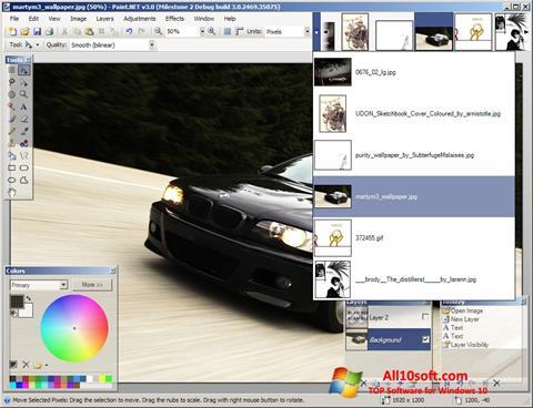 لقطة شاشة Paint.NET لنظام التشغيل Windows 10