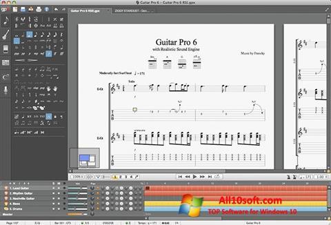 لقطة شاشة Guitar Pro لنظام التشغيل Windows 10