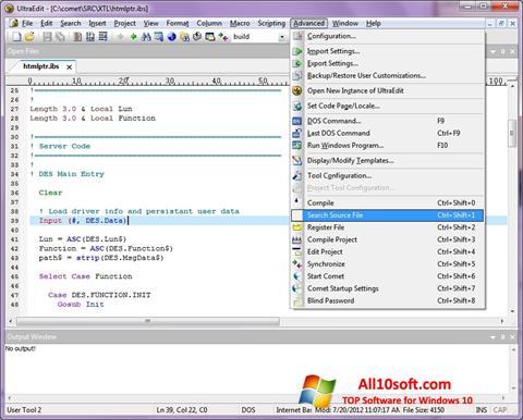لقطة شاشة UltraEdit لنظام التشغيل Windows 10