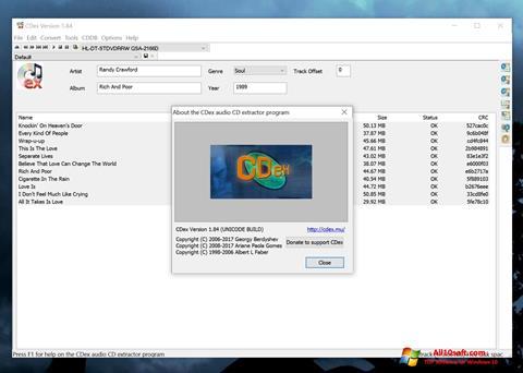 لقطة شاشة CDex لنظام التشغيل Windows 10