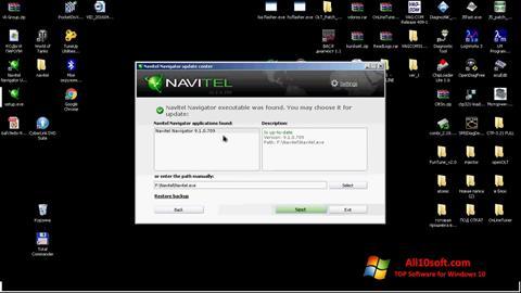 لقطة شاشة Navitel Navigator Update Center لنظام التشغيل Windows 10