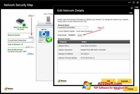 لقطة شاشة Norton Internet Security لنظام التشغيل Windows 10