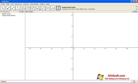 لقطة شاشة GeoGebra لنظام التشغيل Windows 10