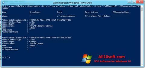لقطة شاشة Windows PowerShell لنظام التشغيل Windows 10